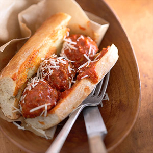 Meatball Parmesan Sub