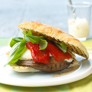 Grilled Portobello and Goat Cheese Sandwich