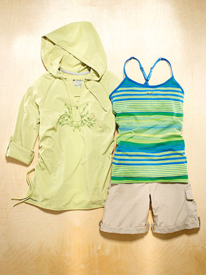 Outdoor workout clothes for walking