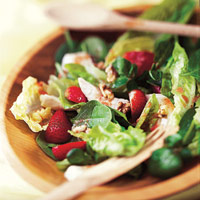 Strawberry Chicken Salad With Warm Citrus Dressing