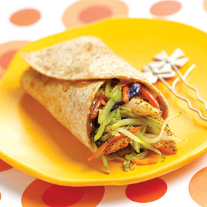 Thai Chicken Broccoli Wraps