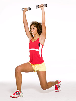 Hands-Up Front to Rear Lunge A