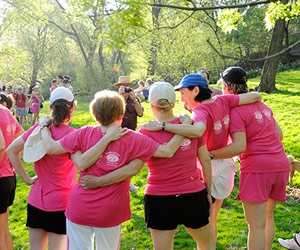 group of women running the More|FITNESS Half-Marathon