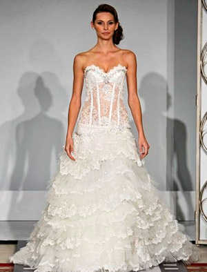wedding dress with corset bodice