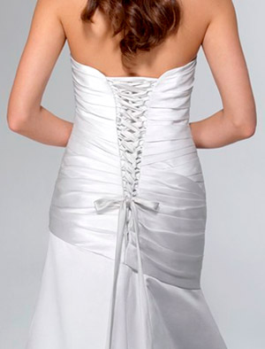 wedding dress with lace-up back