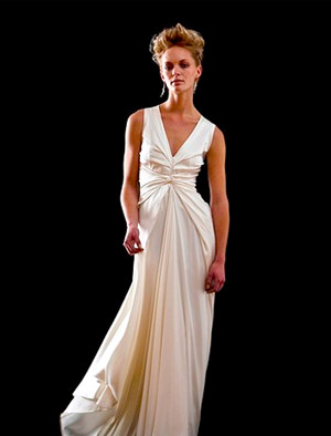 wedding dress with soft bodice