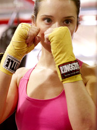 Leah boxing