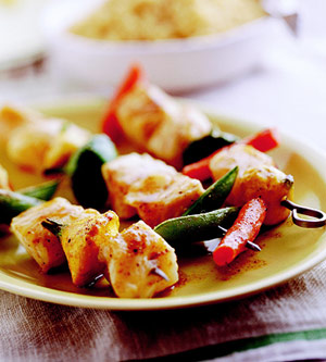 Spicy Fish Kebabs