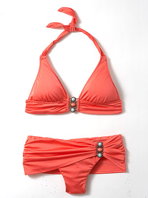 Trina Turk Tri Wire bra top and Sash Side bottom