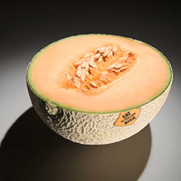 cantaloupe with warning sticker