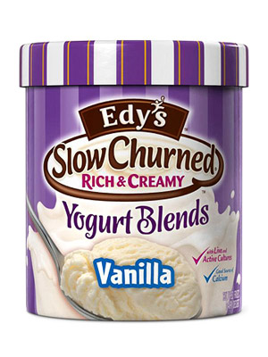 Edy?s Slow Churned Yogurt Blends Vanilla Frozen Yogurt