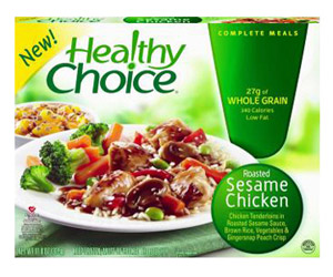 Healthy Choice frozen dinner