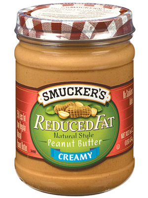 Smucker?s Reduced Fat Natural Style Creamy Peanut Butter