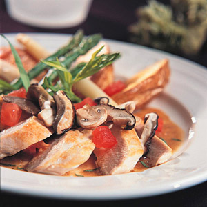 Chicken Scaloppine With Mushrooms and Tarragon