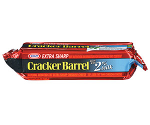 Cracker Barrel Reduced-Fat Extra Sharp Cheddar Cheese