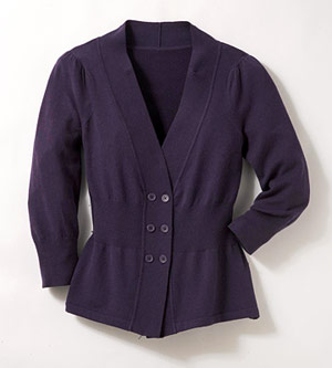 The Limited cinch-waist cotton cardigan sweater