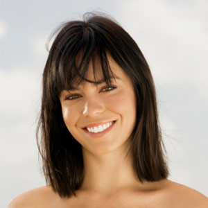 Shoulder Length Bob With Blunt Bangs