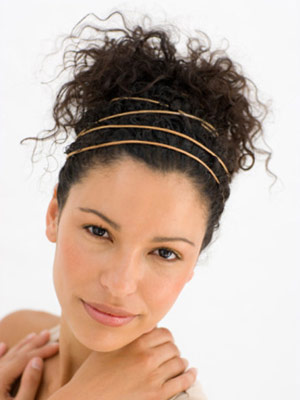 Modern Updo with Multiple Headbands