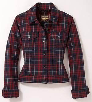 Levi's 70's Plaid Trucker stretch-cotton jacket