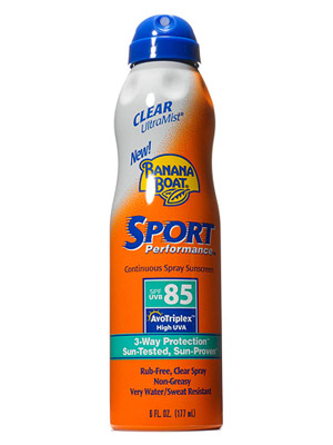 Banana Boat Clear Ultra Mist Sport Performance Sunscreen