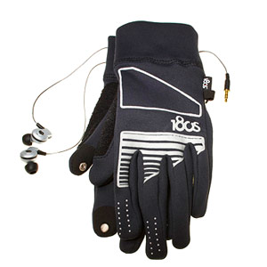 180s Women's Performer gloves and Skullcandy Asym earphones