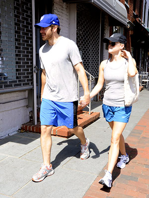 Reese Witherspoon and Jake Gyllenhaal in workout clothes