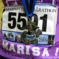 Marisa's Race  Bib and Medal
