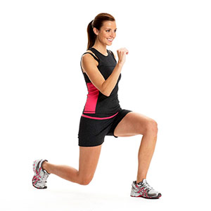 Knee-Up Jump Lunge A