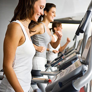women on treadmills
