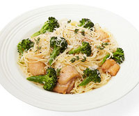Capellini With Chicken, Broccoli and Pecorino Cheese