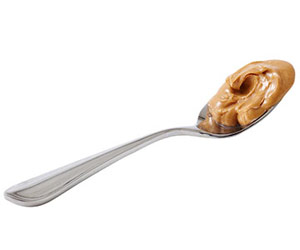 teaspoon of peanut butter