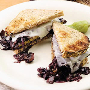 Smothered Tempeh Sandwich