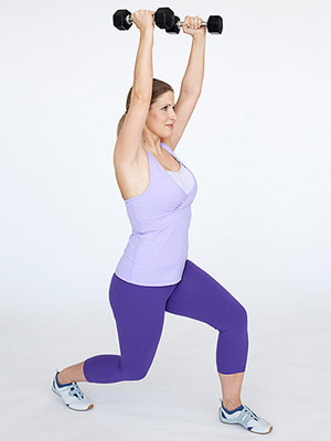 Lunge Shoulder Press