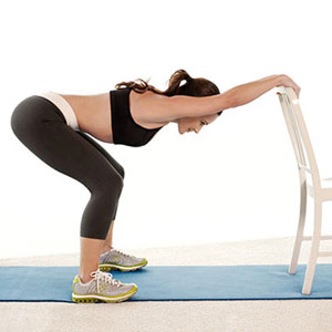 Squat With Leg Lift A
