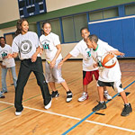 Tamika Catchings playing with Catch the Stars