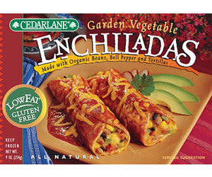 Cedarlane Garden Vegetable Echiladas