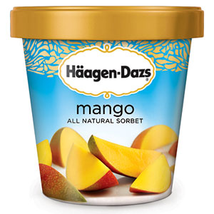 Haagen Dazs Mango All Natural Sorbet