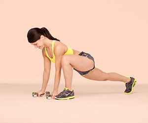 Plank Lunge Row A