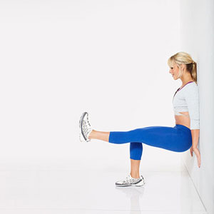 Wall Sit With Leg Lift