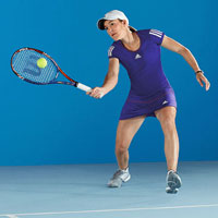 Tennis player Justine Henin