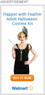 Flapper with Feather Adult Halloween Costume Kit