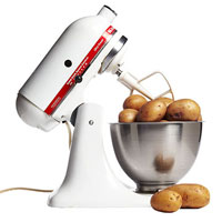 mixer with potatoes