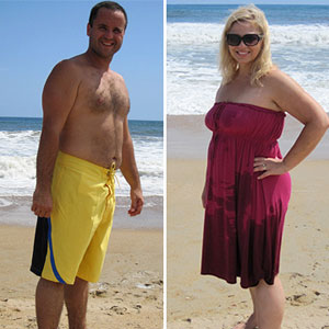 Beth and Keith during weight loss makeover