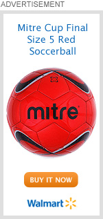 Mitre Cup Final Size 5 Red Soccerball