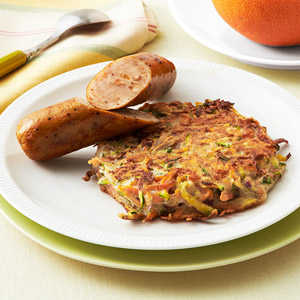 Veggie Pattie With Apple-Chicken Sausage