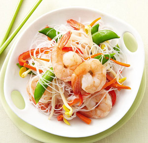 Spicy Shrimp Noodle Salad