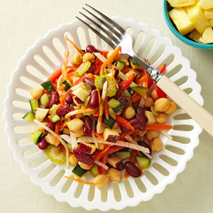 Chunky Vegetable Salad With Lemon-Cumin Vinaigrette