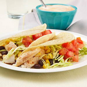 Fish Tacos with Chipotle Lime Sauce