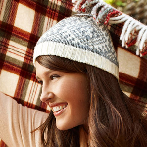 woman wearing winter hat