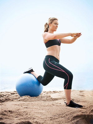 Single-Leg Ball Squat